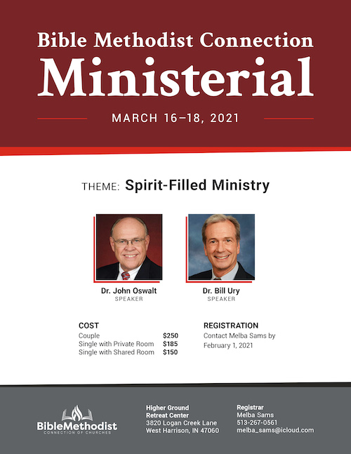 Flyer for the Bible Methodist Connectional Ministerial 2020